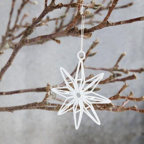 House Doctor - Stern, Weihnachtsstern, Weihnachtsdeko - weiß - 10 cm