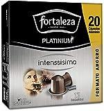 Café Fortaleza Platinium – Cápsulas Compatibles con Nespresso, de Aluminio, Sabor Intenssisimo, Especial Café Espresso, 100% Arábica, Pack 8x20 - Total 160 uds
