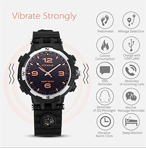 Bluetooth Smartwatch, F35 MP3 4GB ROM Fitness Tracker Uhr mit Herzfrequenz Armband Aktivität Tracker Gesundheit Schrittzähler Monitor Sport Armband Armbanduhr Telefon für IOS und Android Smartphones