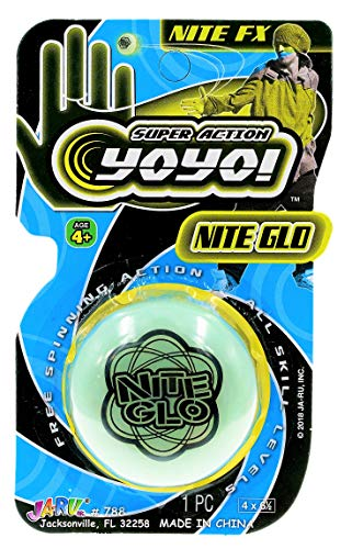 JA-RU Glow in The Dark Yoyo Game Toy Professional Yo-Yos (1 Unit) . Yoyos for Kids Pinata Filler Gifts Ideas for Party Favors| | Item # 788-1p