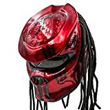 Predator Motorcycle Helmet - DOT Approved - Unisex - Blood Red Chaos