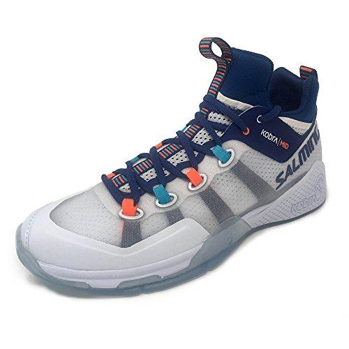 Salming Men's Kobra Mid 2 Shoes White/Limoges Blue 11