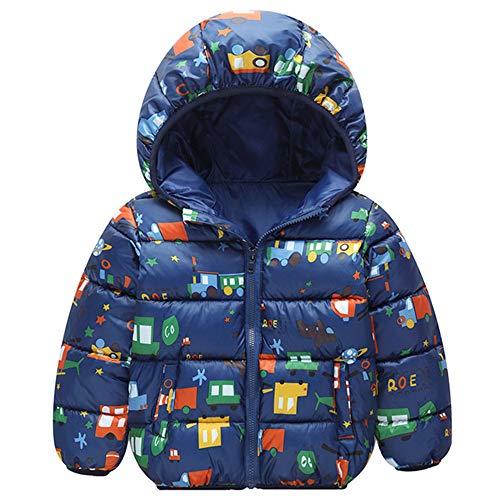 Minizone Bebé Chaqueta con Capucha Abrigo de Invierno Ligeras Traje de Invierno, 18-24 Meses (talla del fabricante 90), Multicolor