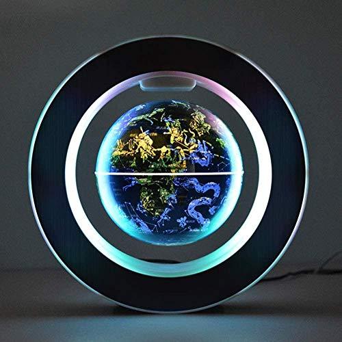 Globo flotante luminoso LED Globo de constelación flotante de 6 pulgadas El mejor regalo para hombres de negocios Globo terráqueo flotante, sala de estar con luces LED