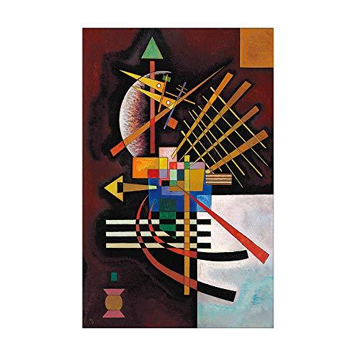 SpringFlower Wandaufkleber Wassily Kandinsky Premium Kunstdruck Dekoration Poster Design Modernes Wandbild Sonderanfertigung Für Wohnzimmer, Wandkunstklebstoff (C Style)