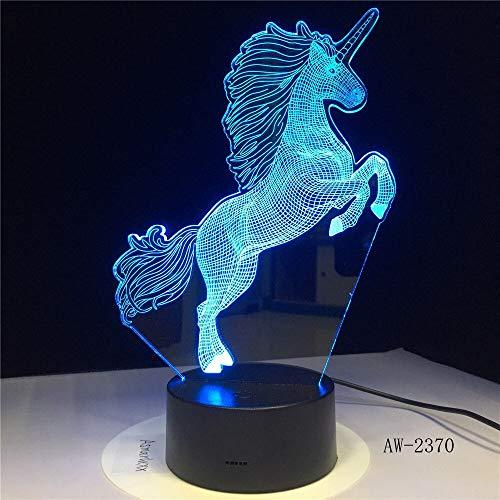 jiushixw 3D acryl nachtlampje met afstandsbediening kleurverandering tafellamp sfeerverlichting moderne grijze tafellamp
