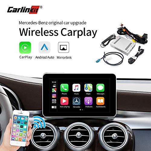 Carlinkit Wireless Carplay-Empfängerbox für Mercedes Benz NTG4.5/4.7/5.0, 2010-2018A/B/C/E/V/CLA/CLS/GLC/GLA/GLS/GLE, Werkseitiger Bildschirm Upgrade CarPlay Retrofit Kit Android Auto iOS 13