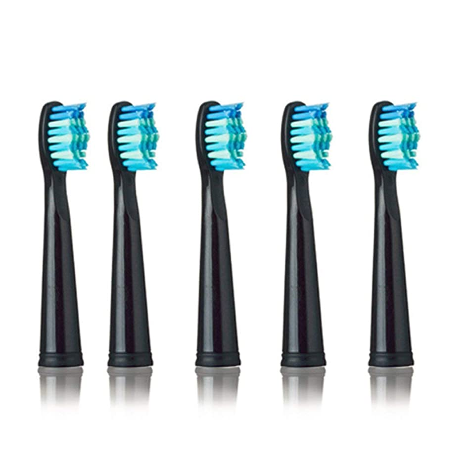 データム騒ぎに対応SEAGO 949/507/610/659用電動歯ブラシヘッド抗菌自動歯ブラシヘッド電動歯ブラシ - ブラック