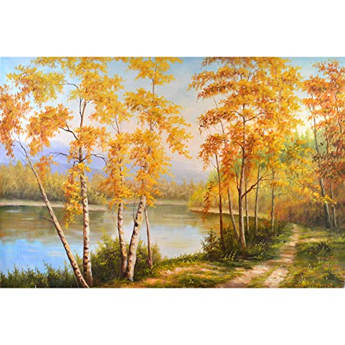 DIY 5D Nature Diamond Painting Kits for Adult, Casual Digital Painting Full Drill Combination- Arts and Crafts Indoor Wall Decorations(Gold Tree)