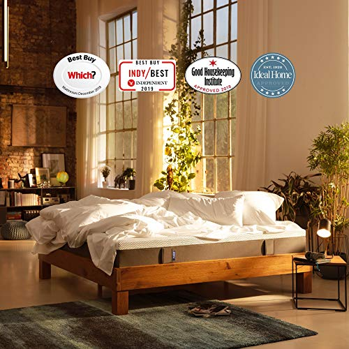Emma Original Double Mattress 135x190 cm 25 cm high Memory Foam Mattress Which? Best Buy 2018 and 2019 Mattress I Good Housekeeping Institute Approved 2018 I 100 Nights trial I 10 years warranty