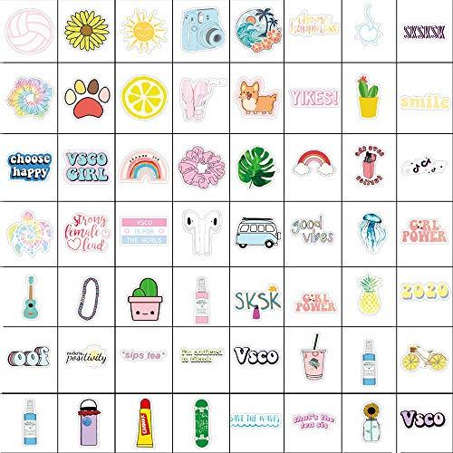 Vsco Aufkleber für Wasserflaschen, 100 Stück, niedlich, wasserdicht, Laptop-Aufkleber für Mädchen, Teenager, geeignet für Hydroflasche, Gitarre, Gepäck, Foto, Fahrrad