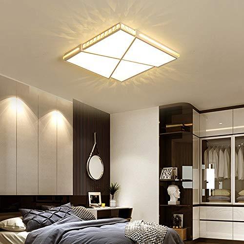 De enige goede kwaliteit Indoor Moderne Minimalistische Woonkamer Slaapkamer Snijden Vierkante LED Crystal Plafond Lamp Stepless Dimmen Creatieve Home Restaurant Hotel Decoratieve Lichten