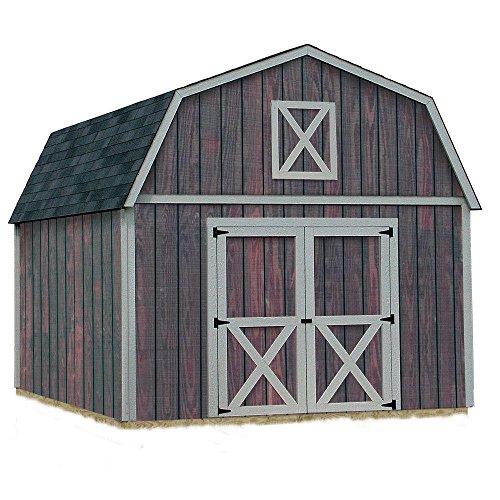 Best Barns Denver 12 ft. x 16 ft. Wood Storage Shed Kit without Floor