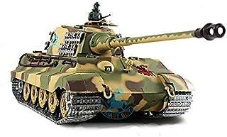 2.4Ghz 1/16 German King Tiger Henschel Turret Air Soft RC Battle Tank Smoke & Sound..