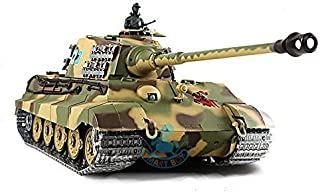 1/16 German King Tiger Henschel Turret Air Soft RC Battle Tank Smoke & Sound (Upgrade Version w/ Metal Gear & Tracks)