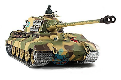 2.4Ghz 1/16 German King Tiger Henschel Turret Air Soft RC Battle Tank Smoke & Sound (Upgrade Version w/ Metal Gear & Tracks)