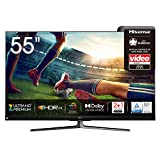 Hisense 55U8QF QLED 139cm (55 Zoll) Fernseher (4K ULED HDR Smart TV, Ultra Premium HD, HDR10+, Dolby Vision&Atmos, Full Array Local Dimming, 120Hz Panel, USB-Recording, JBL sound, Alexa Built-in)