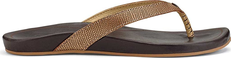Olukai Women's Hi'Ona Tan Tan sandals 6 M