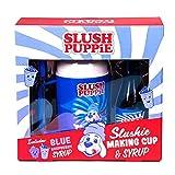 Slush Puppie Slushie Making Cup with Blue Raspberry Syrup Official Slush Puppy, blue/red/white, 1769