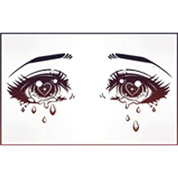 Amazon Com Kawaii Anime Girl Eyes Crying Diamonds Sparkles Hearts