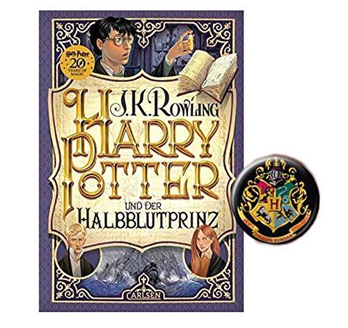 Harry Potter und der Halbblutprinz (6. Band, Gebundene Ausgabe) + 1x original Harry Potter Button