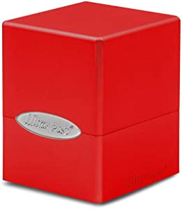 Apple Red Ultra Pro Satin Tower Cube Deck & Dice Box