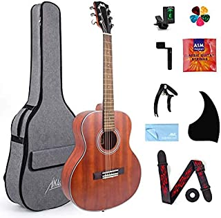AKLOTClassical Acoustic Guitar, Travel Acoustic Guitar with Classical String 36 inch Mahogany w/Gig Bag Tuner Strap Picks ...