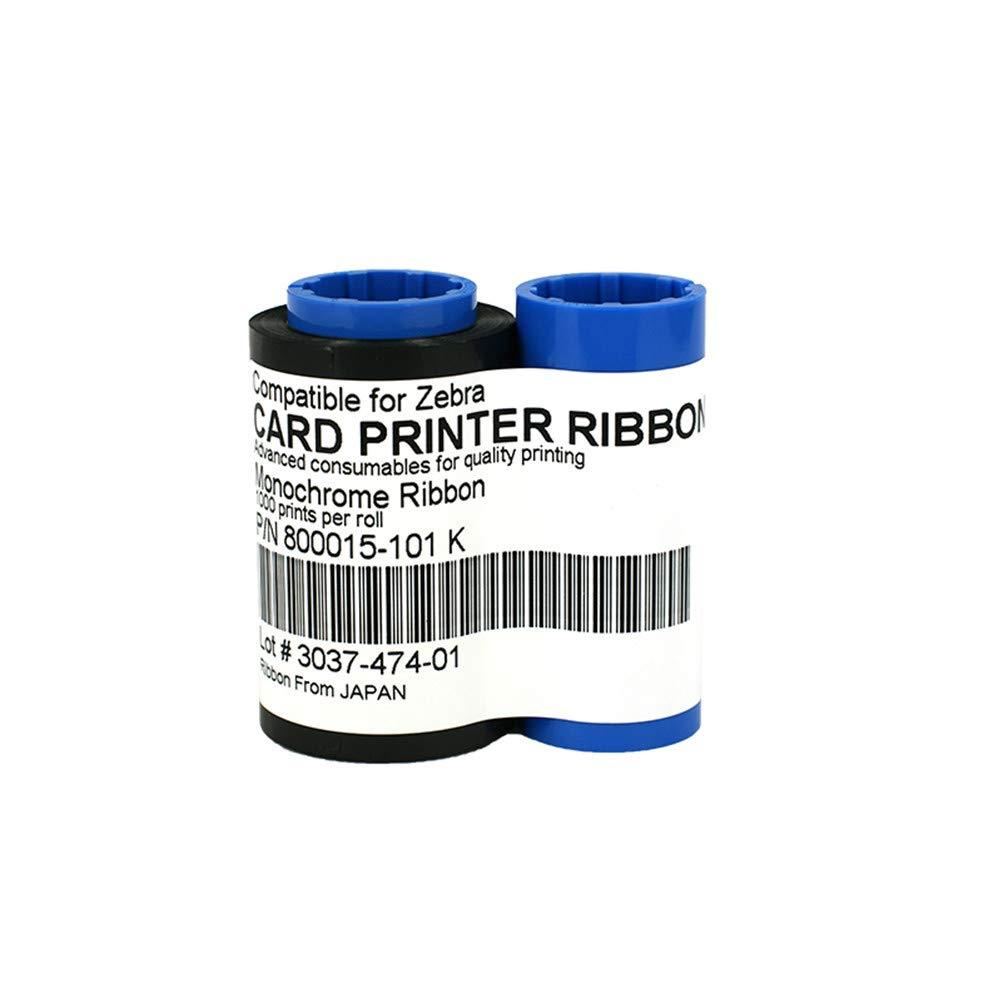 Amazon Com 800015 101 Black Monochrome Ribbon For Zebra P330i P420i P430i Card Printers 1000 Prints Electronics