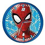 HOVUK® Disney Character Marvel Spiderman - Reloj de pared unisex de cuarzo para niños y niñas de 3 años