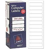 """Avery Etiquetas de endereço para impressora Dot Matrix, 15/16"""" x 8,8"""", 5.000 etiquetas brancas (4013)"""