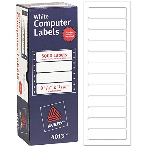 Avery Dot Matrix Printer Address Labels, 15/16