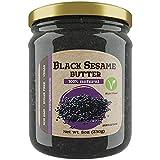ISOP Mantequilla de Semilla de Sésamo Negro 230gr (8oz) - Crema de Frutos Secos Saludable Para Untar - Comida Vegana - Buena Fuente de Proteínas Vegetales
