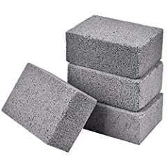 Grill Cleaning Brick---Fast and efficient cleaning of Flat-top griddles, Grills, Grates, Oven trays, and other kitchen or cooking utensils made of iron or steel. Magical clean stone---Only light pressure is needed to easily remove grease, residue and...