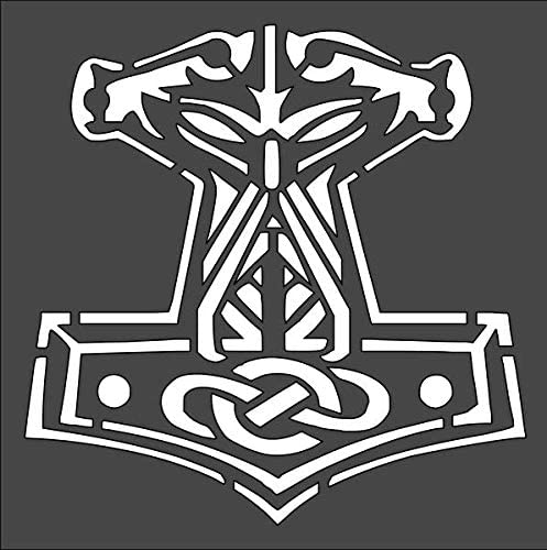 1- 10x10 inch Custom Cut Stencil Arts Dedication TG-39 Viking and Hammer Our shop OFFers the best service