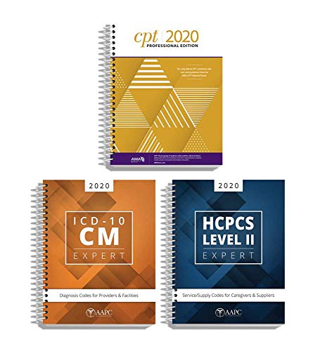 AMA CPT Book, ICD-10 Code Book, HCPCS Book - 2020 Physician Bundle by AAPC
