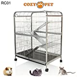 COZY PET Rodent Cage for Rat, Ferret, Chinchilla, Degu or other Small Pets