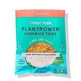 Outer Aisle Gourmet Cauliflower Sandwich Thins | Keto, Gluten Free, Low Carb & Paleo | Jalapeno | 24...
