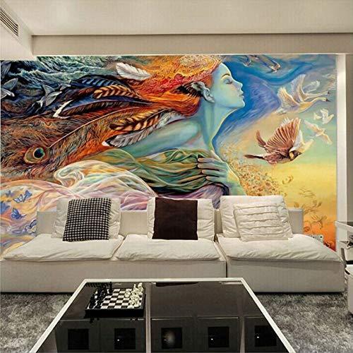 BHXIAOBAOZI behang, fotobehang, aangepaste muurschildering 3D abstracte afbeelding graffiti schilderen bioscoop bar kTV slaapkamer bank Tv background Home Decoration wallpaper 400cm(W)×250cm(H)
