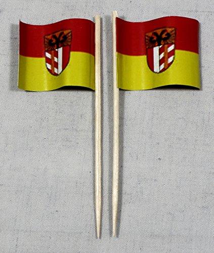 Buddel-Bini Party-Picker Flagge Schwaben Papierfähnchen in Profiqualität 50 Stück 8 cm Offsetdruck Riesenauswahl aus eigener Herstellung