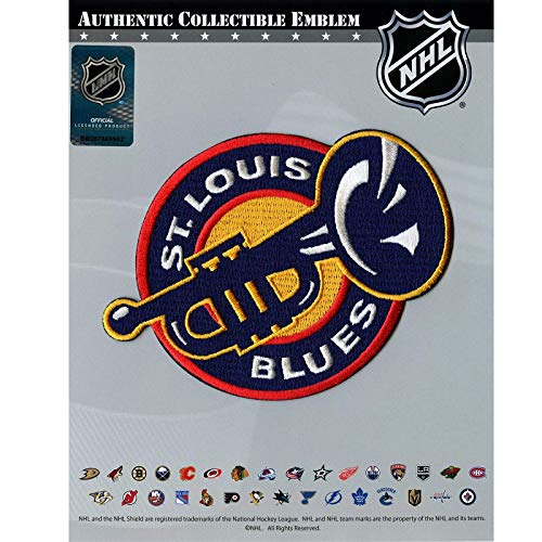 Official St. Louis Blues Jersey Trumpet Patch NHL Hockey Team Logo Iron On Embroidered