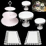 Aohuada Tortenständer Kuchenständer Hochzeitstorte Tortenstaender Cake pop Ständer Cupcake Ständer für Hochzeitsfeiern Muffinständer Halloween Deko (6pcs) - 6