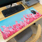 LIEBIRD Extended XXL Gaming Mouse Pad - Portable Large Desk Pad for Laptop - Non-Slip Rubber Base (Cactus)