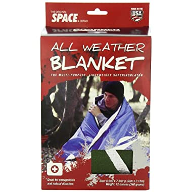 Grabber Outdoors Original Space Brand All Weather Blanket: Olive, 5 Feet X 7 Feet, Box