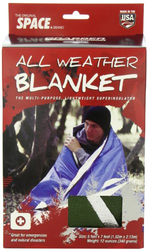 Grabber 8313AWBGR Outdoors Original Space Brand All Weather Blanket: Olive, 5 Feet X 7 Feet, Box