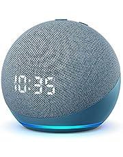 Nuevo Echo Dot (4.ª generación)   Altavoz inteligente con reloj y Alexa   Azul grisáceo