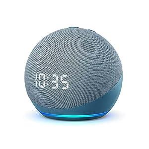 Nuevo Echo Dot (4.ª generación) | Altavoz inteligente con reloj y Alexa | Azul grisáceo