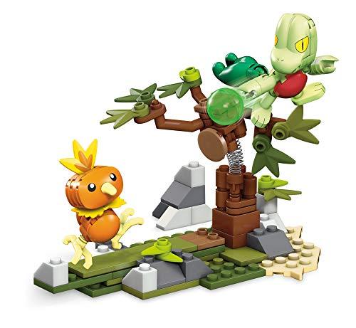 Mega Construx GKY94 - Mega Construx Pokémon Flemmli vs. Geckarbor, zum Zusammenbauen, Bauspielzeug ab 6 Jahren