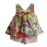Switchali Vestidos niñas, Niños Bebé Niña Verano Moda Blusas Chaleco Floral...