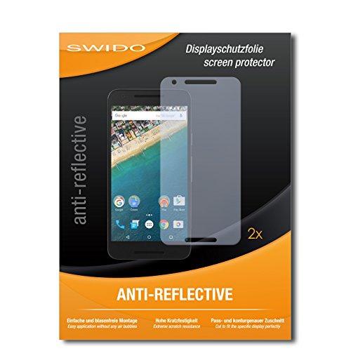 SWIDO® Schutzfolie für LG Nexus 5X [2 Stück] Anti-Reflex MATT Entspiegelnd, Hoher Festigkeitgrad, Schutz vor Kratzer, Folie, Bildschirmschutz, Bildschirmschutzfolie, Panzerglas-Folie
