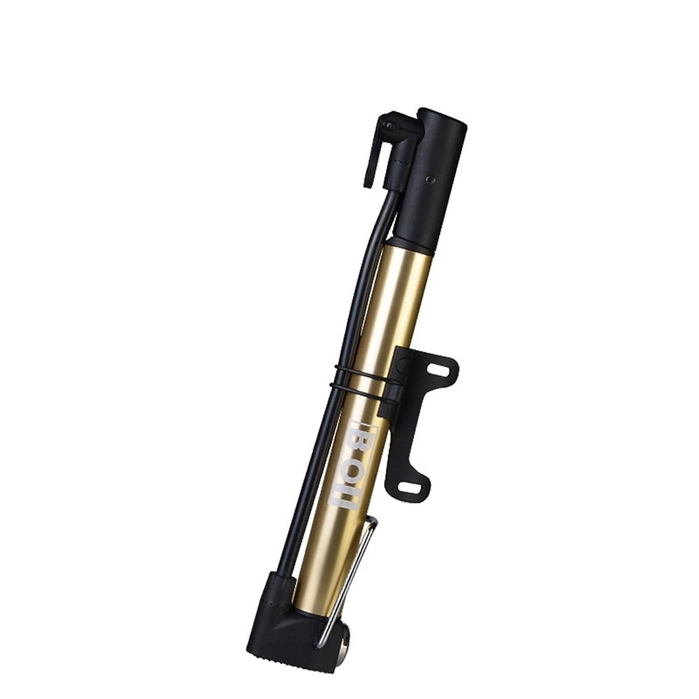 フィヨルドナイロン鹿BOI(ボイ) ミニフロアポンプ 空気入れ 米式/仏式バルブ対応 [フットステップ装備]